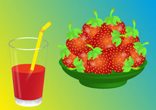 Strawberry juice Stock Image