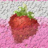 Strawberry juice sewing buttons image generated background Royalty Free Stock Photos