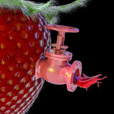 Strawberry Juice Spigot Royalty Free Stock Photo
