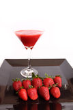 Strawberry juice with strawberries Royalty Free Stock Images