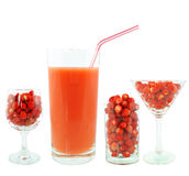 Strawberry juice Stock Photos
