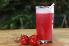 Strawberry  juices Stock Photography