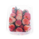 Strawberry juicy fruit in plastic bag packaging Stock Photo