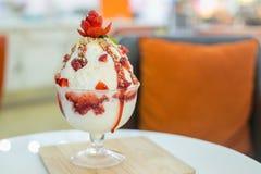 Strawberry kakigori, Japanese favorite dessert Stock Image