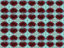 Strawberry kaleidoscope stock photo