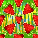 Strawberry kaleidoscope. Seamless vector texture. Vector pattern. Royalty Free Stock Photos