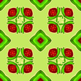 Strawberry kaleidoscope. Seamless vector texture. Vector pattern. Royalty Free Stock Images