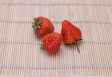 Strawberry. Is a kind of fresh and juicy, rich fruit aroma of the healthy food and contain rich vitamin c, has a variety of beneficial health properties of the Royalty Free Stock Images