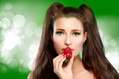 Strawberry Kisses Royalty Free Stock Photo