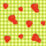 Strawberry kitchen cloth Royalty Free Stock Photos