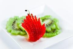Strawberry and  kivi Royalty Free Stock Image