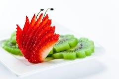 Strawberry and  kivi Stock Image