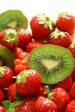 Strawberry and kiwi Royalty Free Stock Image