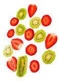 Strawberry and kiwi Royalty Free Stock Images