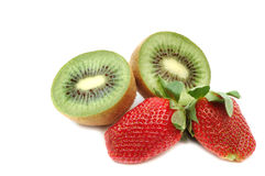 Strawberry and kiwi Royalty Free Stock Photography