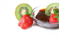 Strawberry and Kiwi Stock Photo