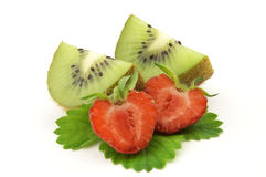 Strawberry and kiwi Royalty Free Stock Photos