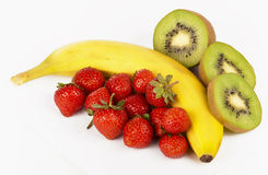 Strawberry, Kiwi And Banana Royalty Free Stock Photography