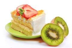 Strawberry  Kiwi cheesecake Stock Images
