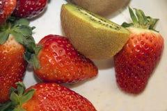 Strawberry and kiwi Royalty Free Stock Photo
