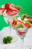 Strawberry and kiwi dessert Stock Photo