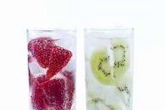 Strawberry and Kiwi drinks Royalty Free Stock Photos
