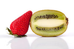 Strawberry and Kiwi Fruit Royalty Free Stock Photo