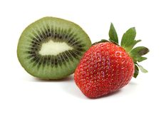 Strawberry Kiwi Stock Images