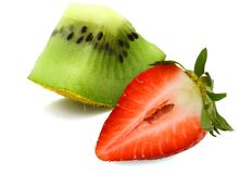 Strawberry and kiwi fruit Stock Photography