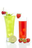 Strawberry and kiwi juice Royalty Free Stock Photos