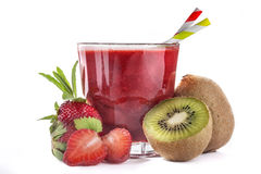 Strawberry and kiwi  juice Stock Images