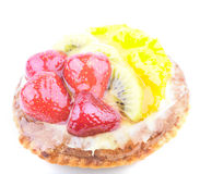 Strawberry Kiwi and Orange in jelly cake Stock Images