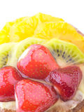 Strawberry Kiwi and Orange in jelly cake Stock Image