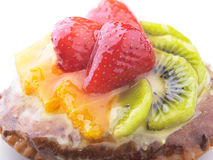 Strawberry Kiwi and Orange in jelly cake Royalty Free Stock Photos