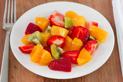 Strawberry with kiwi and orange Stock Image