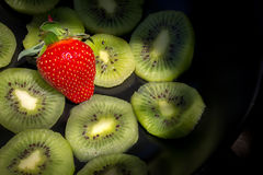 Strawberry and Kiwi Stock Image