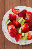 Strawberry with kiwi Royalty Free Stock Photography