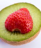 Strawberry And Kiwi Represents Juicy Kiwis And Tropical Stock Photo