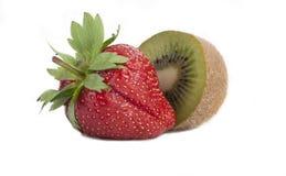 Strawberry and kiwi. Ripe strawberry and kiwi slices Stock Images