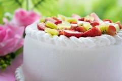 Strawberry and kiwi shortcake Stock Photos