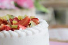 Strawberry and kiwi shortcake Royalty Free Stock Image