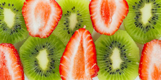 Strawberry and kiwi Royalty Free Stock Photo