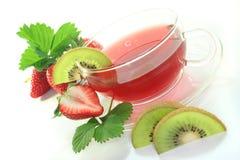 Strawberry Kiwi Tea Royalty Free Stock Images