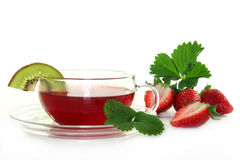 Strawberry Kiwi Tea Stock Images