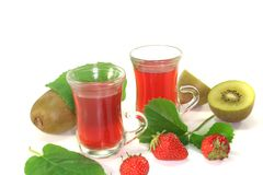 Strawberry-kiwi tea Royalty Free Stock Photo