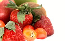 Strawberry,kiwi,tomato,apples royalty free stock photography