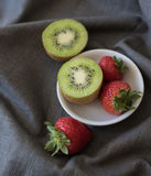 Strawberry Kiwis Stock Images