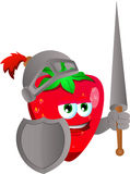 Strawberry knight Stock Photography