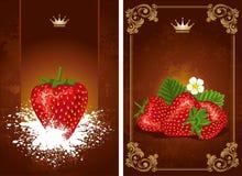 Strawberry label Stock Photo