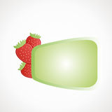 Strawberry label. Strawberry empty label for text Green vector format Royalty Free Stock Photos